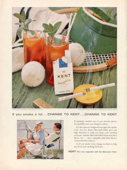 Kent Cigarettes Tennis Racket Clothes (1956)