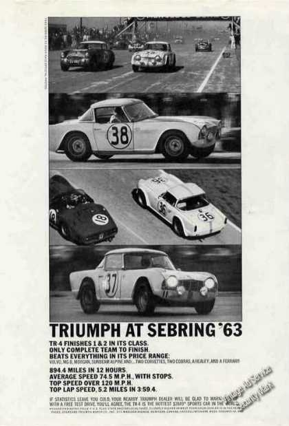 Triumph at Sebring '63 Photos (4) Nice (1963)