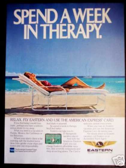 Therapy On the Beach Eastern Airline Am Express (1985)
