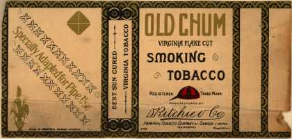D. Bitchier Co.'s Smoking tobacco – Old Chum Virginia Flake Cut