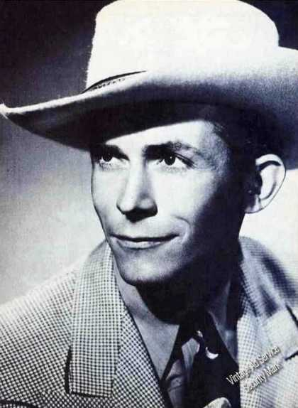 Hank Williams Closeup Undated Magazine Print Photo (1981)
