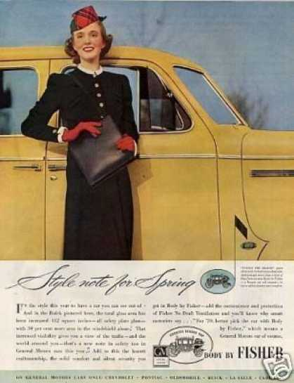 Body By Fisher Car Ad Buick (1939)