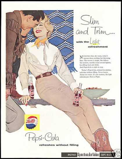 Pepsi Cola Cowgirl Slim & Trim Light (1958)