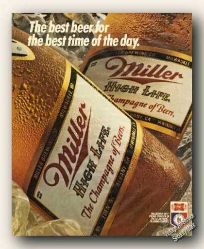 Miller High Life Beer Best Time of Day (1984)