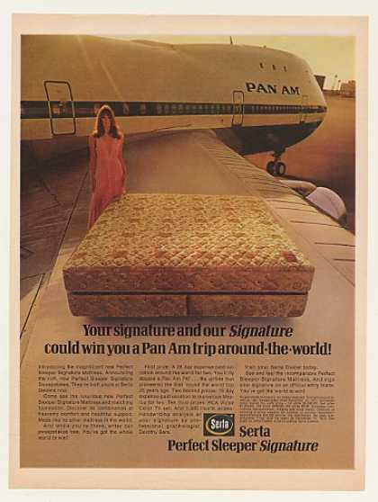Serta Perfect Sleeper Mattress Pan Am Jet (1971)