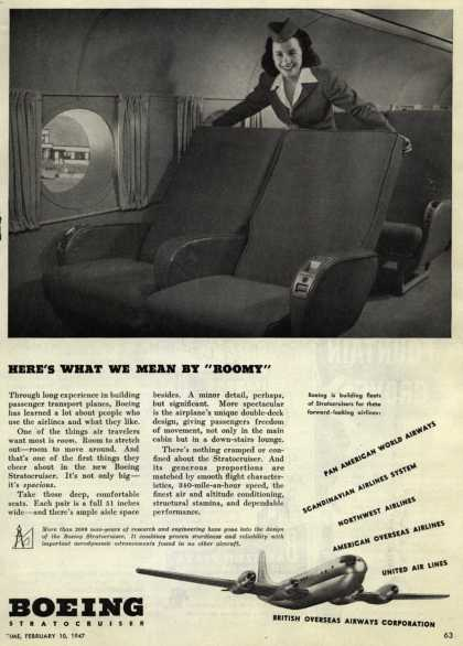 "Boeing Aircraft Company's Stratocruisers – Here's What We Mean By ""Roomy"" (1947)"