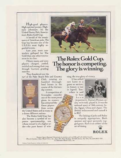 US Polo Association Rolex Gold Cup Watch (1988)