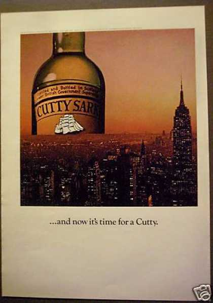 Cutty Sark Whisky New York City Skyline (1975)