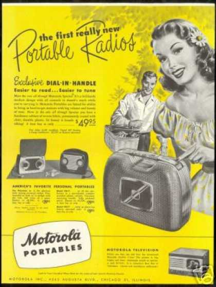 Motorola Portable Radio & Golden View TV (1948)