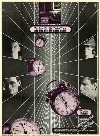 Clocks Photos Collectible Rock Music (1982)