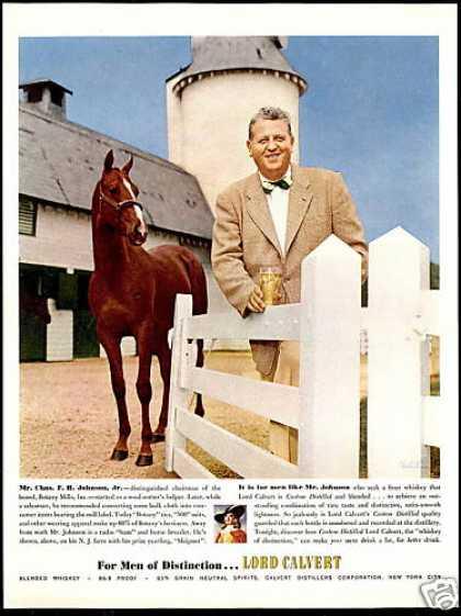 Lord Calvert Whiskey New Jersey Horse Farm (1953)