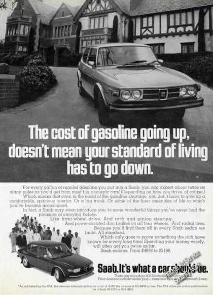 Saab Sedans Gasoline Going Up Car (1974)
