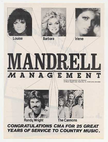 Louise Barbara Irlene Mandrell Photo CMA (1983)