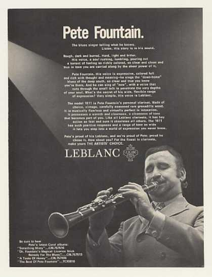 Pete Fountain Leblanc Clarinet Model 1611 Photo (1971)