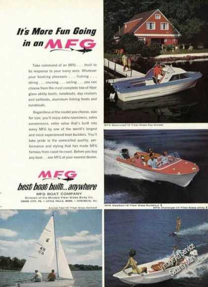 Mfg Boat Advertising Nice Color (1965)