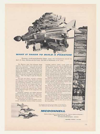 McDonnell Phantom Aircraft What Takes To Build (1963)