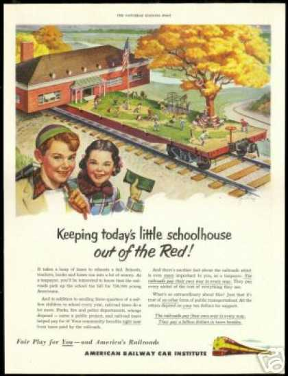 Little School House Art American Railway Train (1951)