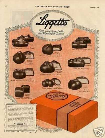 Liggett's Chocolate Candy (1921)