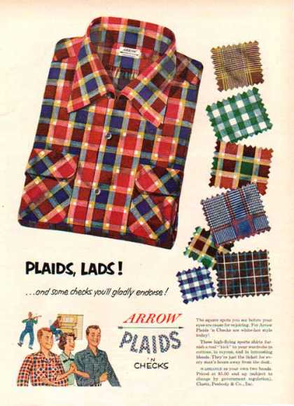 Arrow Sports Plaids n Checks Shirts (1948)