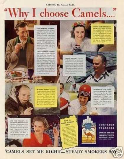 "Camel Cigarettes Color Ad ""Why I Choose... (1937)"