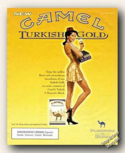 Camel Turkish Gold Cigarette Girl Advertising (2000)