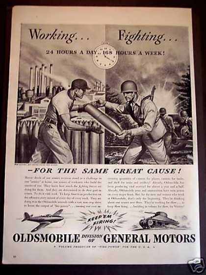 Oldsmobile Builds Cannon, Shell Military Wwii (1942)