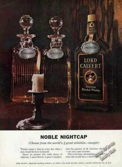 "Lord Calvert Whiskey ""Noble Nightcap"" (1958)"