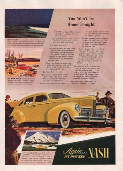 Again Its That New Yellow Nash Car Print A (1939)
