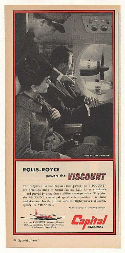 Capital Airlines Rolls-Royce Powers Viscount (1955)