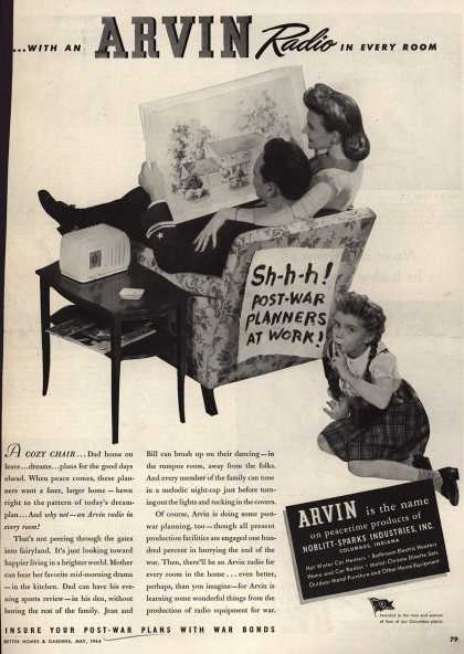 Arvin Radio's Radio – Shhh! Post-War Planners At Work (1944)