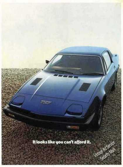 "Triumph Tr7 ""Looks Like You Can't Afford It"" Uk (1977)"