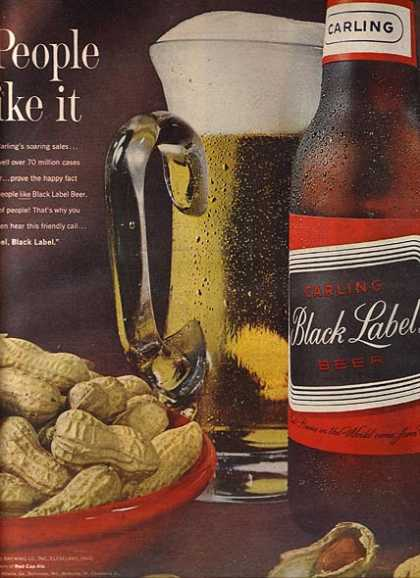 Carling's Long Necked Bottles of Black Label Beer (1963)