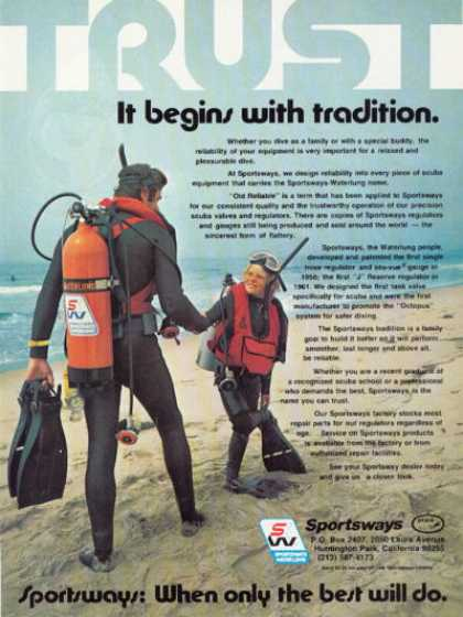 Sportsways Scuba Diving Equipment Gear T (1978)