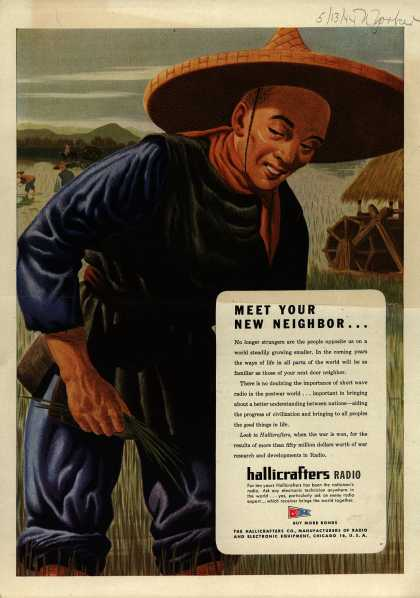 Hallicrafters Company's Radio – Meet your new neighbor... (1944)