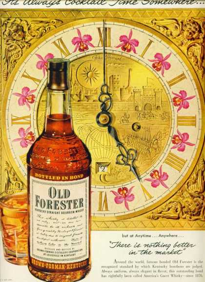 Old Forester Kentucky Straight Bourbon Whiskey (1950)