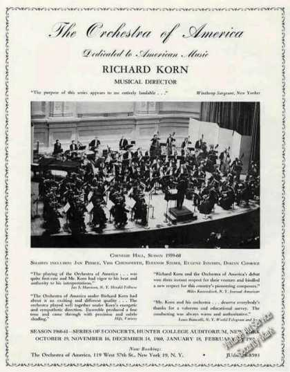The Orchestra of America Richard Korn Director (1960)