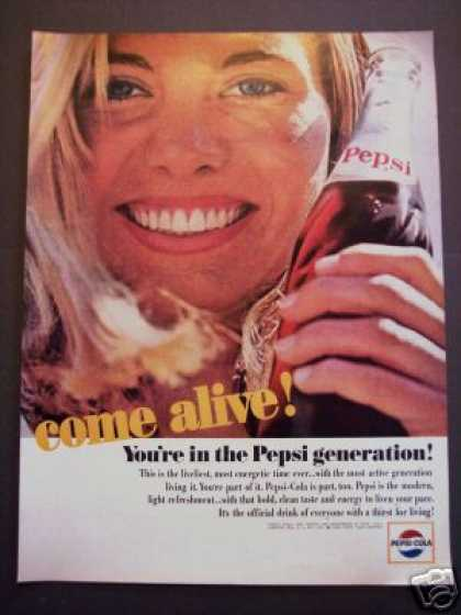 Original Pepsi-cola Pepsi Come Alive (1964)