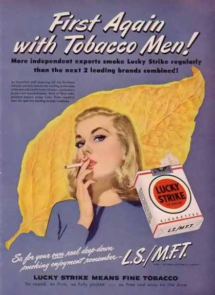 Lucky Strike Cigarettes – Tobacco Men! Blue (1948)