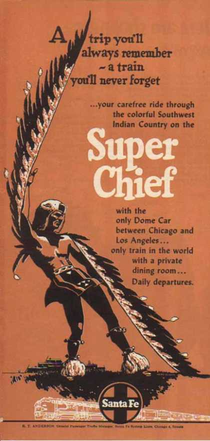 Santa Fe Railroad – Super Chief – Sold (1952)