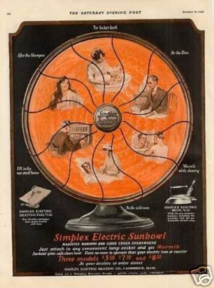 Simplex Electric Sunbowl Color (1925)