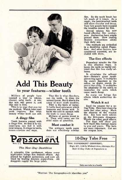 Pepsodent's New-Day Dentrifice (1922)