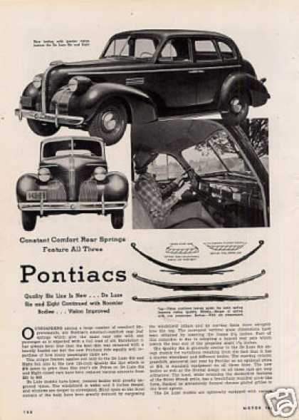 """Pontiacs"" Article (for 1939 Pontiac Cars) (1938)"