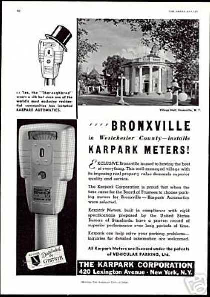 Bronxville Karpark Parking Meter Village Hall (1940)