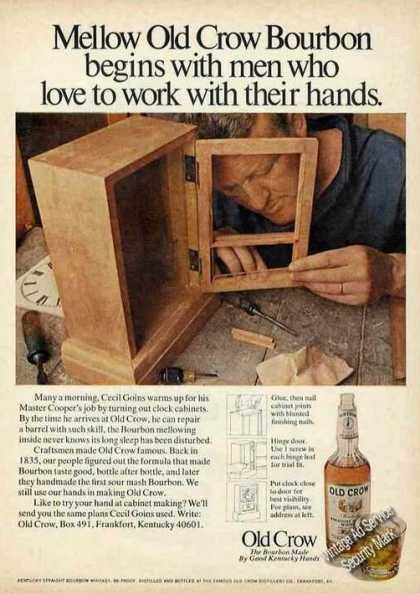 Old Crow Bourbon Men Who Work With Their Hands (1971)