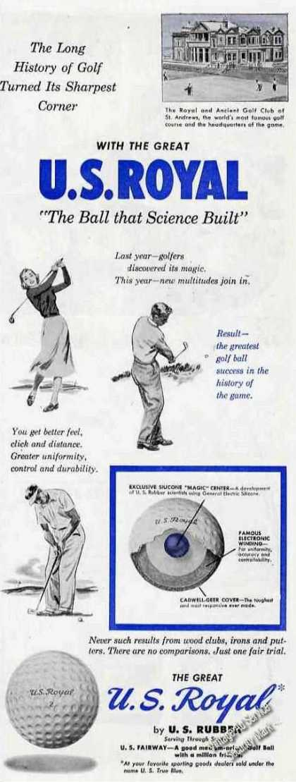 U S Royal the Ball That Science Built Rare Golf (1949)