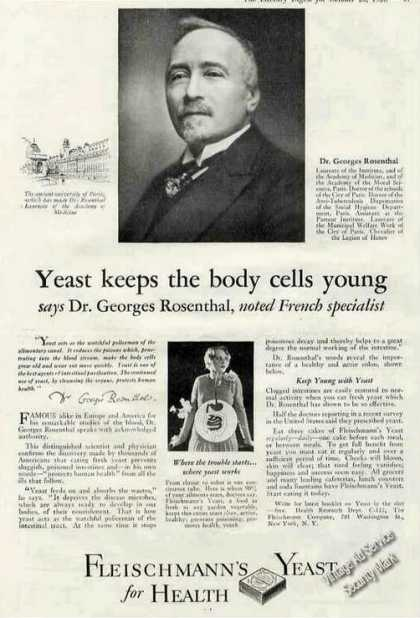 Fleischmann's Yeast for Health Dr. Rosenthal (1928)