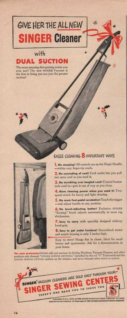 Singer Vacuum Cleaner Dual Suction (1949)