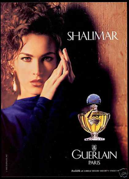 Guerlain Shalimar Perfume Pretty Woman Photo (1992)