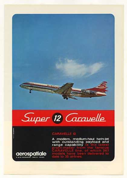 Aerospatiale Super Caravelle 12 Aircraft Photo (1971)