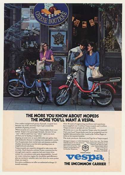 Piaggio Vespa Grande Moped Cheese Boutique (1980)